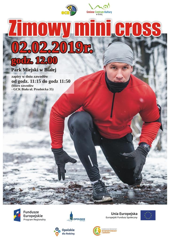 Plakat promujący zimowy mini cross