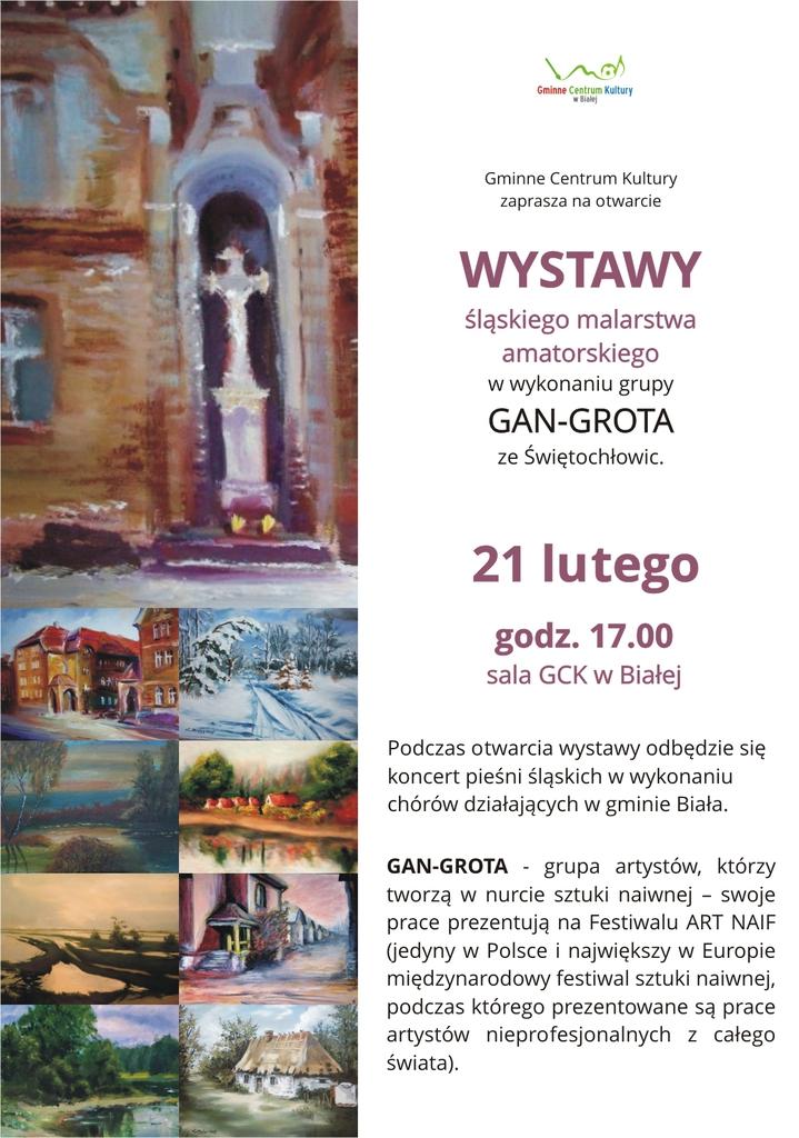 Plakat promujący wystawę amatorskiego malarstwa śląskiego