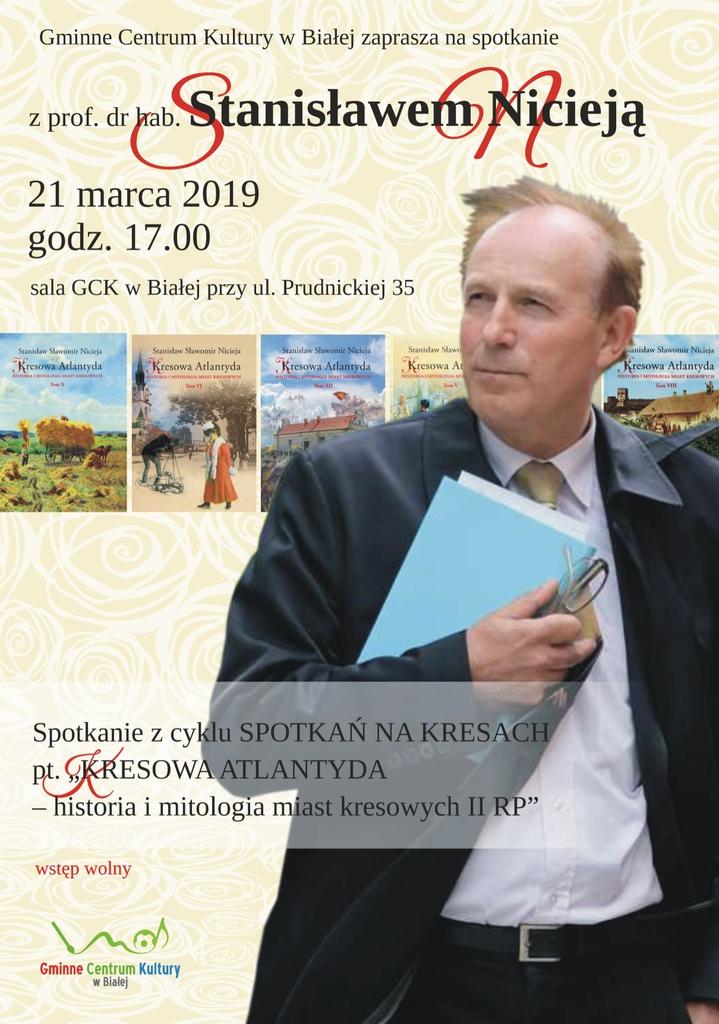 Plakat promujący spotkanie ze Stanisławem Nicieją