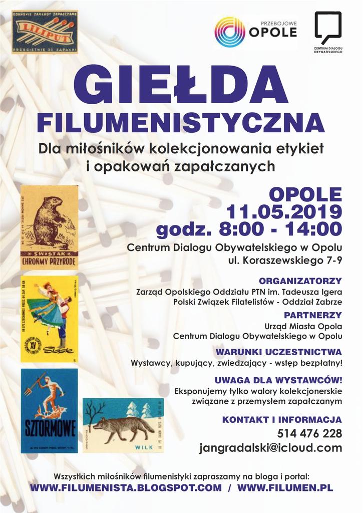 Plakat promujący Giełdę Filumenistyczną