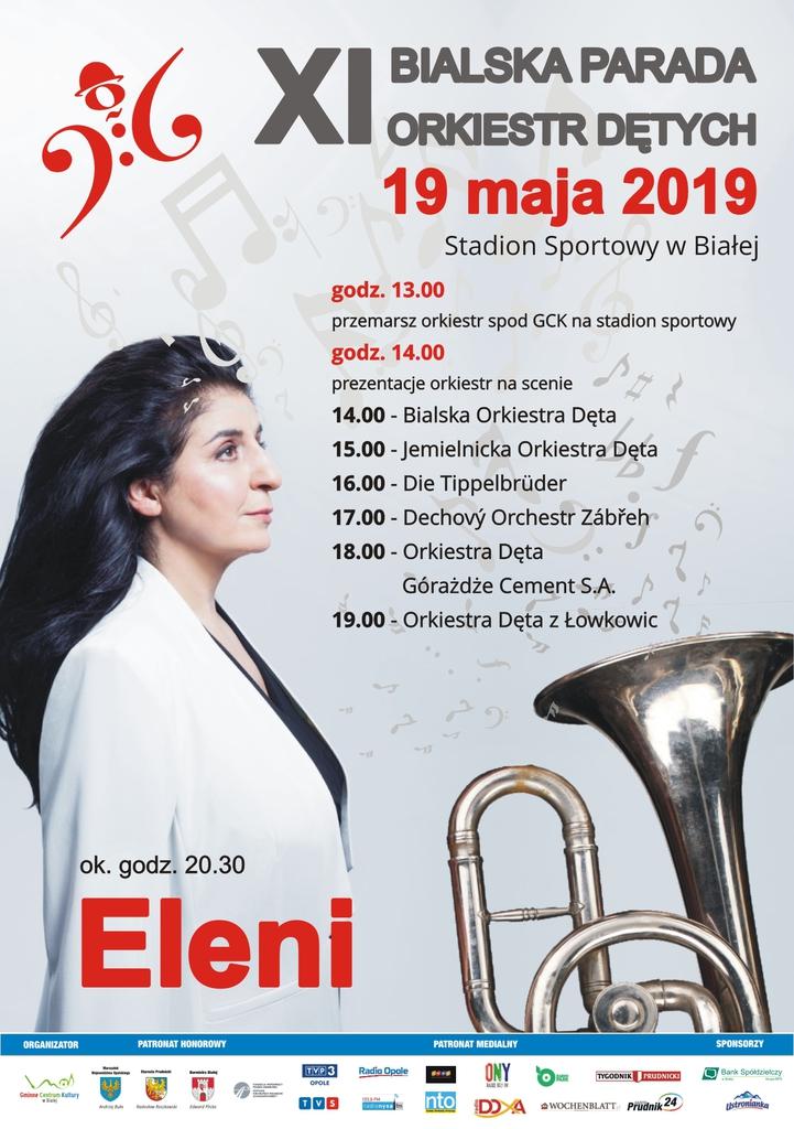 Plakat promujący Bialską Paradę Orkiestr Dętych
