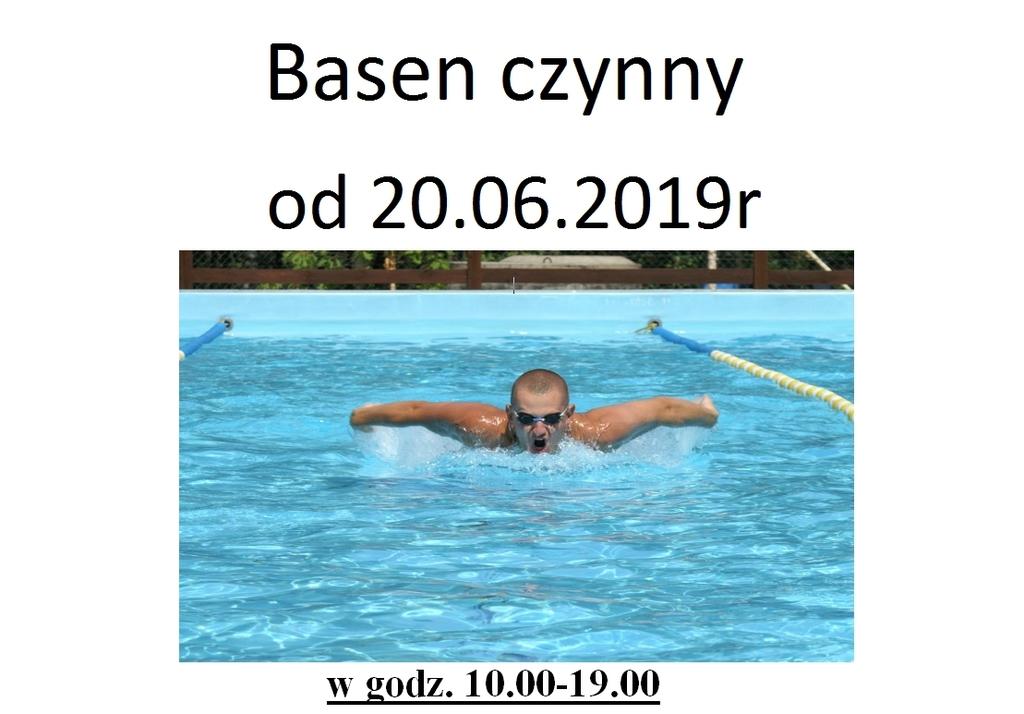 Plakat promujący otwarcie basenu