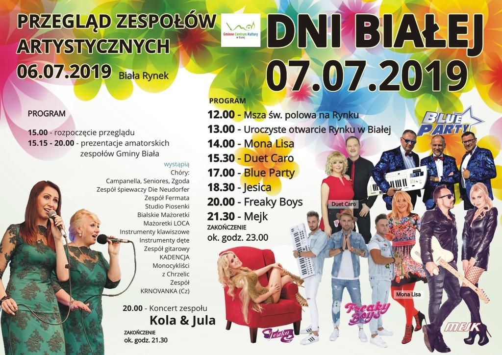 Plakat promujący DNI BIAŁEJ