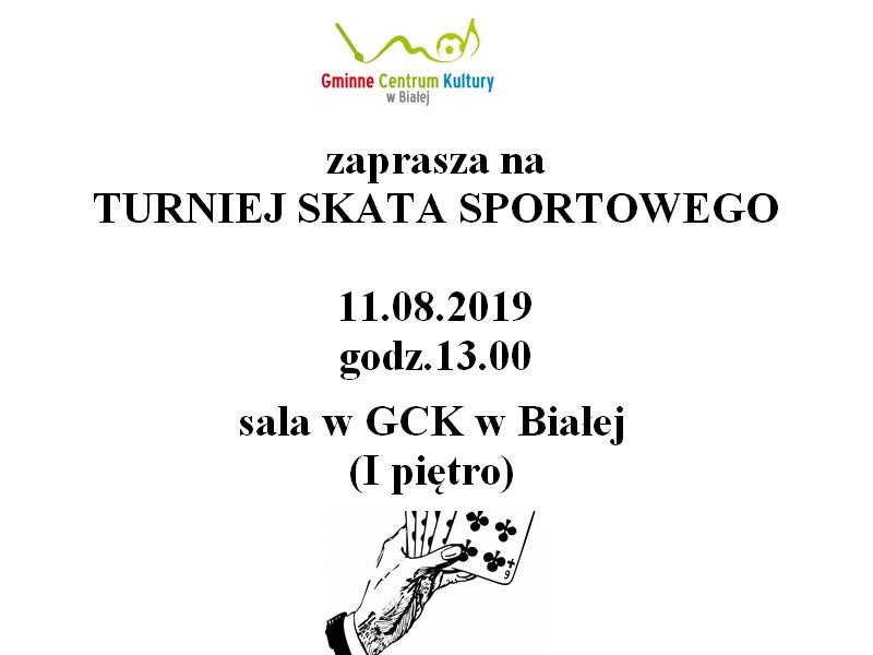 Plakat promujący turniej skata sportowego