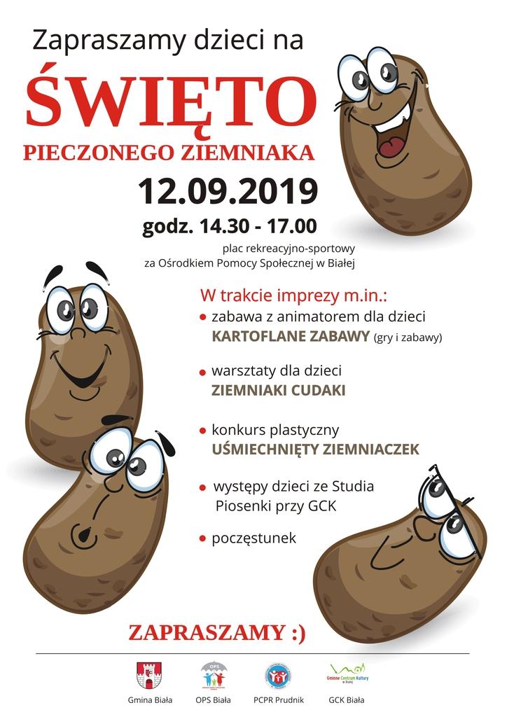 Plakat promujący święto pieczonego ziemniaka