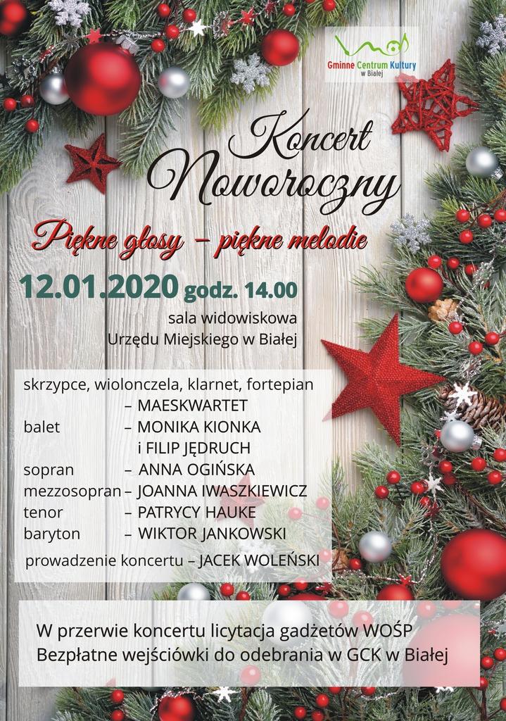 Plakat promujący Koncert Noworoczny