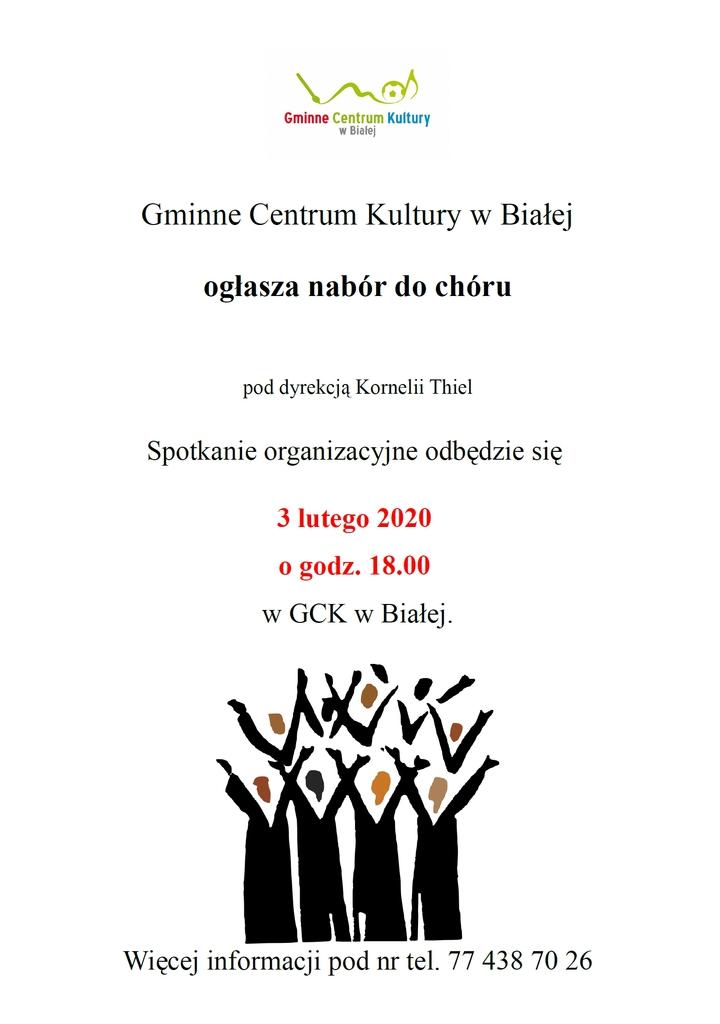 Informacja o naborze do chóru
