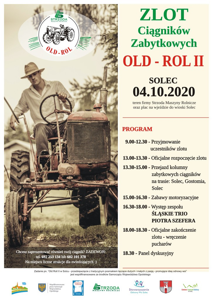 Zdjęcie przedstawia plakat promujący imprezę OLD ROL II