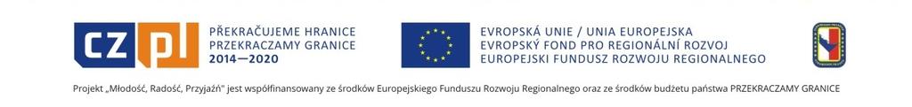 Grafika przedstawia logotypy Euroregionu Pradziad, Unii Europejskiej oraz programu Przekraczamy Granice
