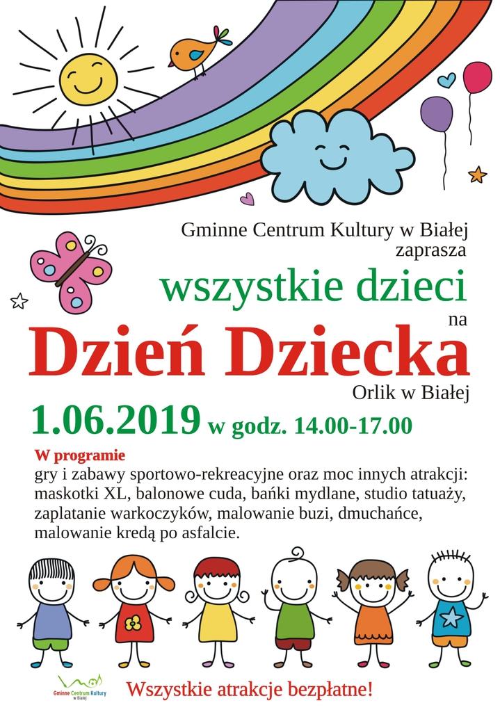 Plakat promujący Dzień Dziecka