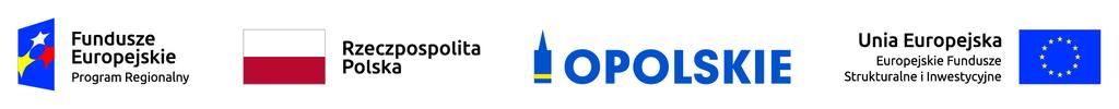Grafika przedstawia loga Funduszy Europejskich, flagę Polski, flagę Unii Europejskiej oraz logo Urzędu Marszałkowskiego Województwa Opolskiego