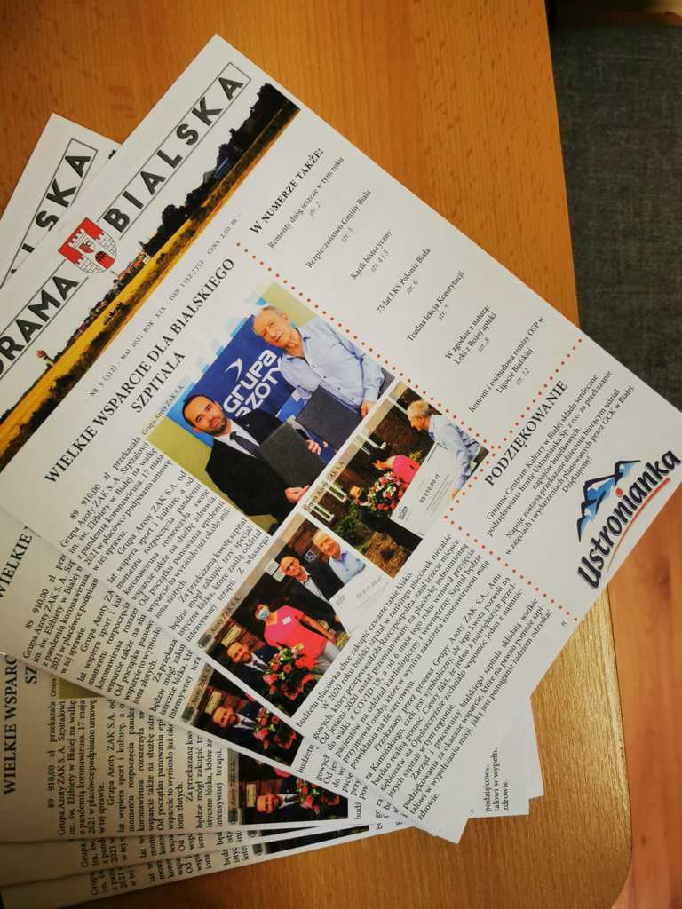 Zdjęcie przedstawia nowy numer gazety Panorama Bialska