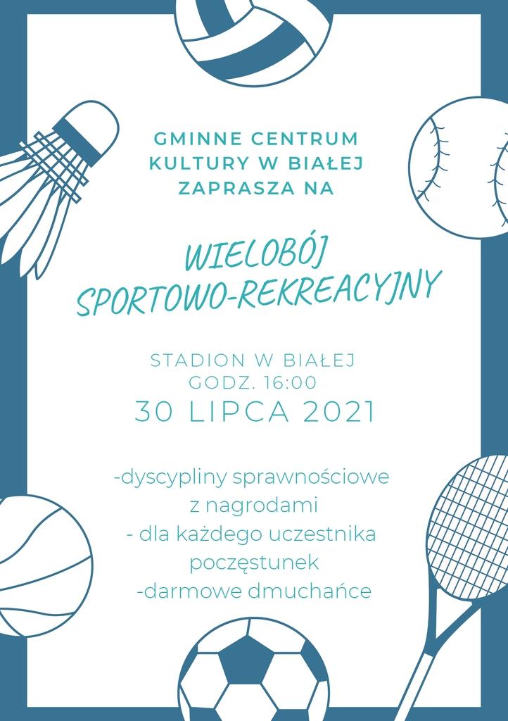 Plakat promujący wielobój 2021