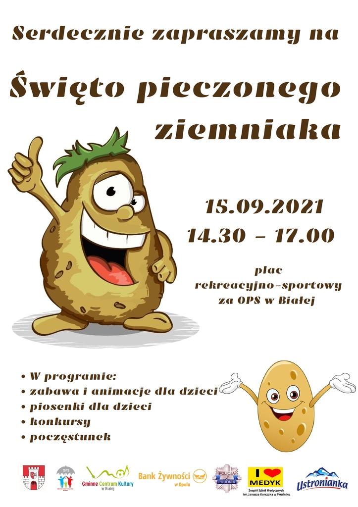 Grafika przedstawia plakat promujący Święto Pieczonego Ziemniaka.jpeg