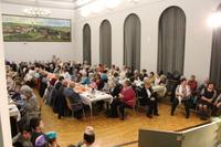 Zdjęcie przedstawia widok na sale widowiskową podczas Noworocznego Spotkania Seniorów