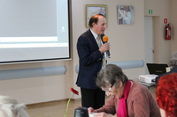 Na zdjęciu prof. dr. hab. Stanisław Nicieja podczas wykładu