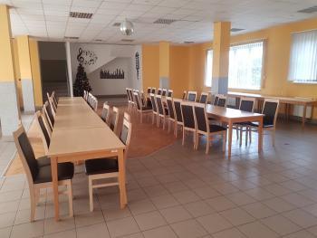 Zdjęcie przedstawia salę bankietową w GCK w Białej