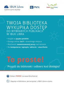Zdjęcie zawiera informacje o przystąpieniu Biblioteki w bIałej do programu Ibuk Libra
