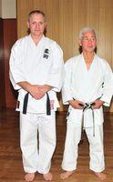 Na zdjęciu znajduje się Eryk Murlowski i mistrz.