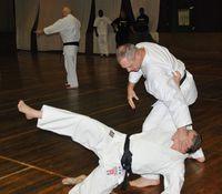 Zdjęcie przedstawia Eryka Murlowskiego podczas walki.
